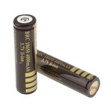 2 PC's UltraFire 18650 4000mAh 3.7V lang blijvende oplaadbare Lithium-ion batterij met Circuit Protection(Coffee)