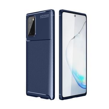 Voor Samsung Galaxy S30 Plus Carbon Fiber Textuur Schokbestendige TPU Case (Blauw)