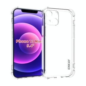 Hat-Prince Enkay Clear TPU Schokbestendige Zachte Case Drop Protection Cover voor iPhone 13 Mini