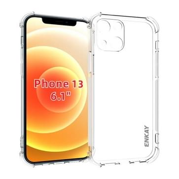 Hat-Prince Enkay Clear TPU Shockproof Soft Case Drop Protection Cover voor iPhone 13