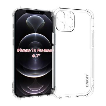 Hat-Prince Enkay Clear TPU Shockproof Soft Case Drop Protection Cover voor iPhone 13 Pro Max