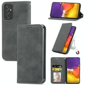 Voor Samsung Galaxy A82 5G Retro Skin Feel Business Magnetische Horizontale Flip Lederen Case met Houder & Card Slots & Portemonnee & Photo Frame