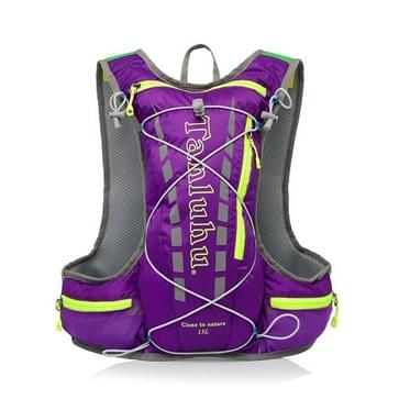 Tanluhu 679 10L Outdoor Sports Trail Running Rugzak Ultralight Marathon Water Bag Vest (Paars)