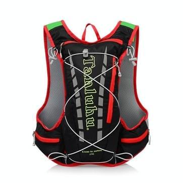 Tanluhu 679 10L Outdoor Sports Trail Running Rugzak Ultralight Marathon Water Bag Vest (Zwart)