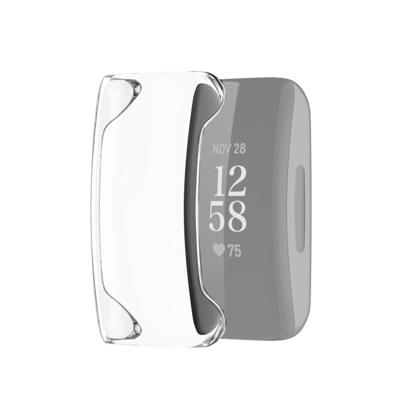 Voor Fitbit Inspire 2 Full Coverage PC Beschermhoes (transparant)