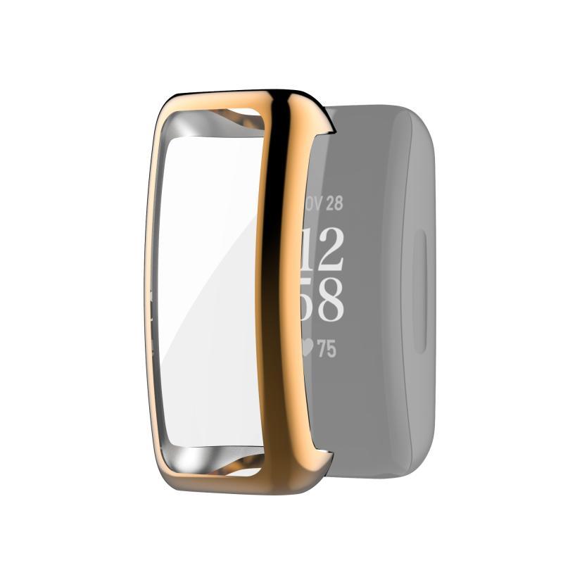 Voor Fitbit Inspire 2 Full Coverage TPU Beschermhoes (Rose Gold)