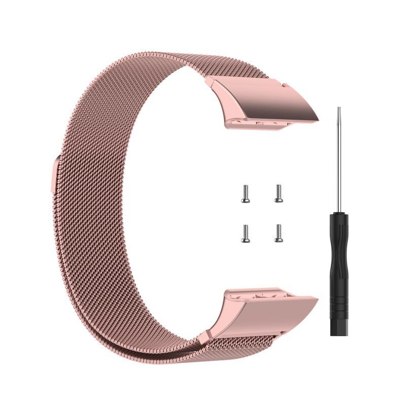 Voor Garmin Forerunner 35 / 30 Milanese vervanging polsband horlogeband (Rose Pink)