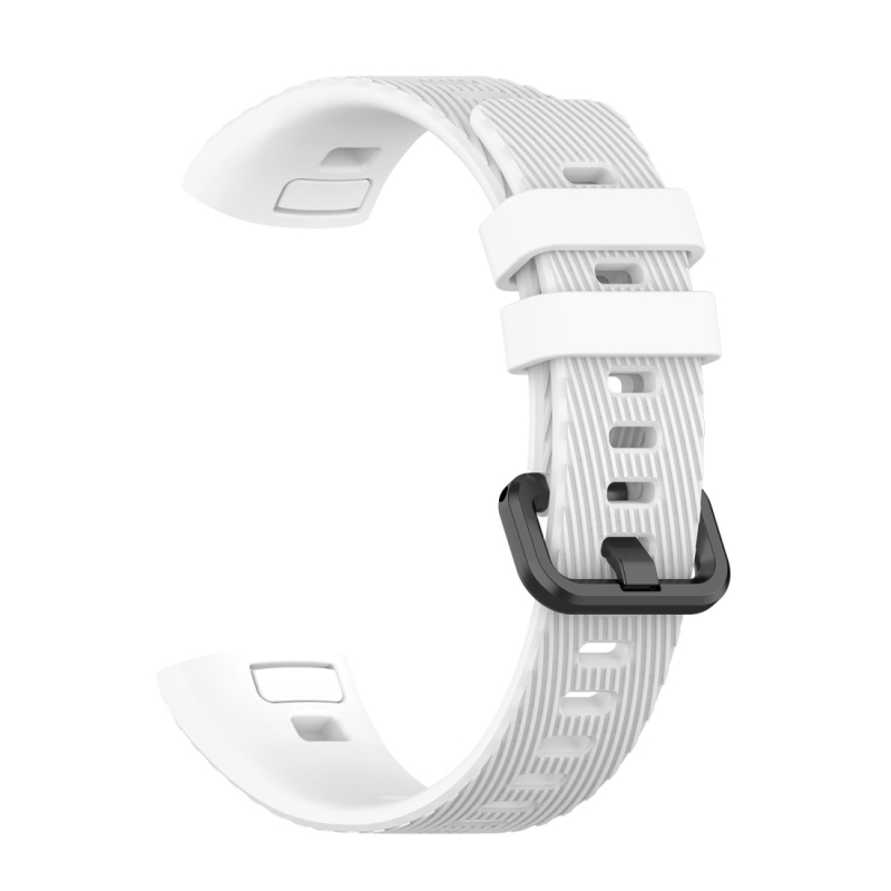 Voor Huawei Band 3 & 4 Pro Siliconen band (Wit)