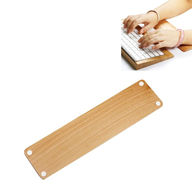 SamDi (wit) berken houten Rest polssteun / Hand Pad toetsenbord voor PC toetsenbord(geel)