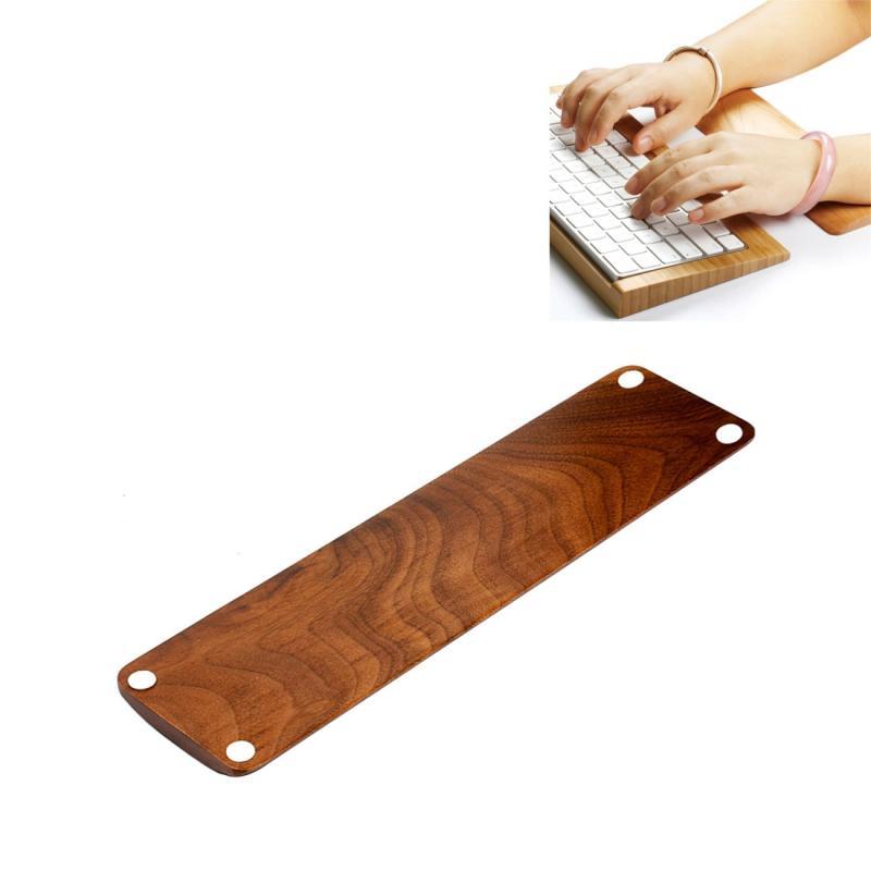 SamDi walnoot houten Rest polssteun / Hand Pad toetsenbord voor PC toetsenbord(bruin)