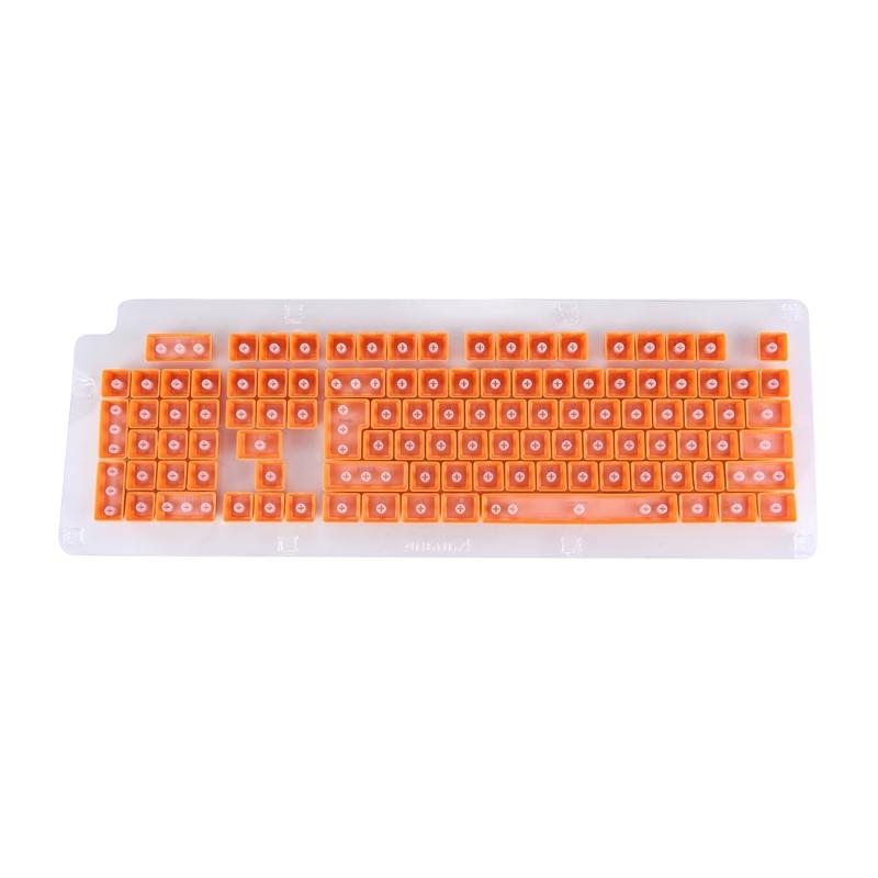 104 toetsen Double Shot PBT Backlit toetsdoppen uit voor mechanische toetsenbord(Oranje)