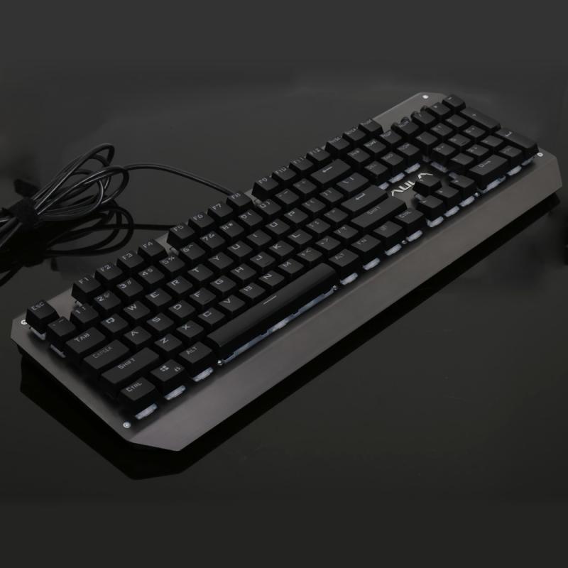 AULA SI-2039 Raiders Serie bedrade mechanisch USB Gaming Toetsenbord met RGB verlichting (zwart)