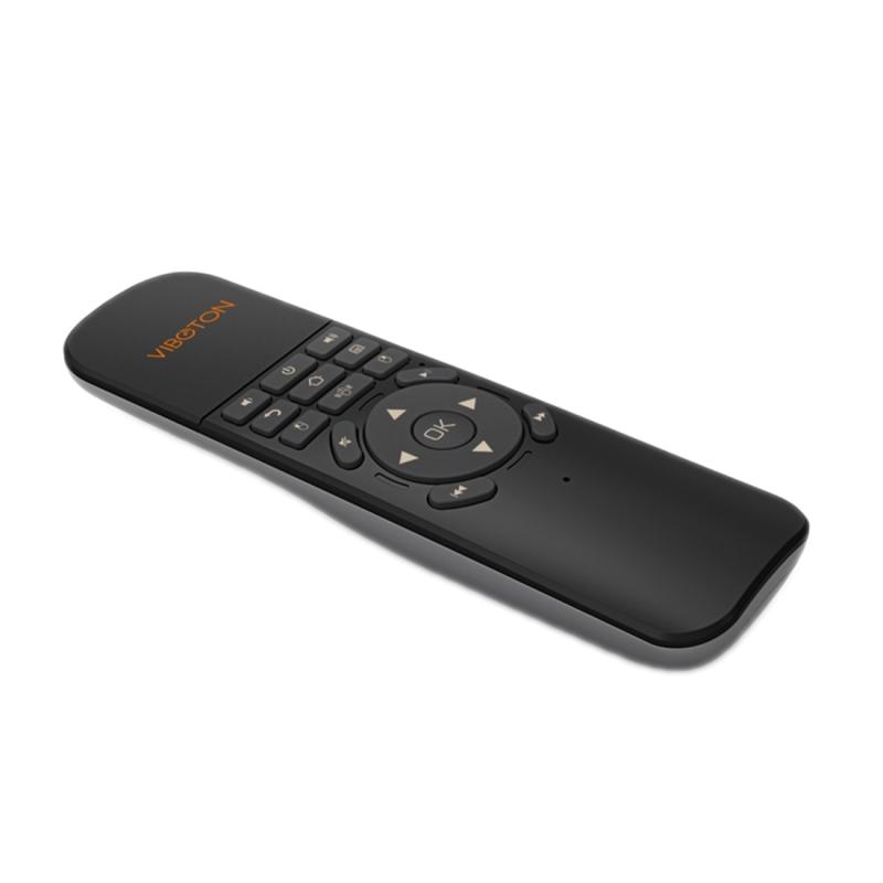 VIBOTON UKB-521 2 4 GHz draadloze Multimedia Control Air muis toetsenbord afstandsbediening voor PC  Tablet  TV Box(Black)