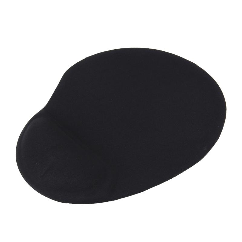 Slanke gladde Microfiber oppervlak antislip silicium onder Game Pad muismat met uitpuilend pols plaatsing  Afmeting: 25 x 21 x 1 8 cm (zwart)