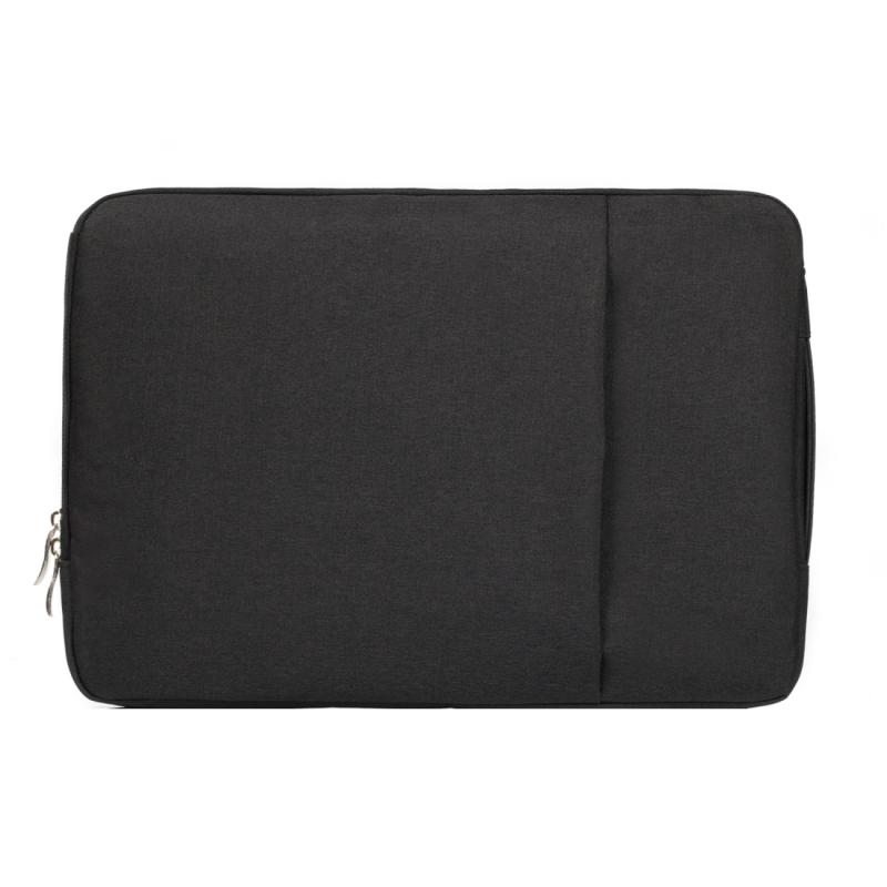 Modieus universeel 15.4 inch Denim Laptoptas Pouch met rits voor MacBook  Lenovo en andere Laptops  Afmetingen: 39.2 x 28.5 x 2 cm (zwart)