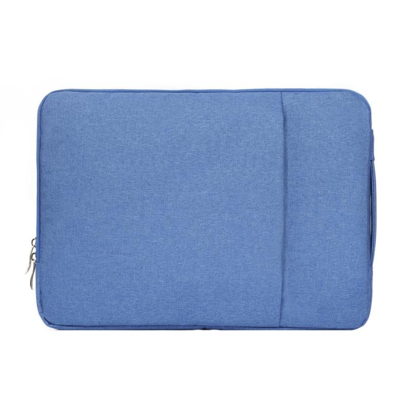 Modieus universeel 15.4 inch Denim Laptoptas Pouch met rits voor MacBook  Lenovo en andere Laptops  Afmetingen: 39.2 x 28.5 x 2 cm (blauw)