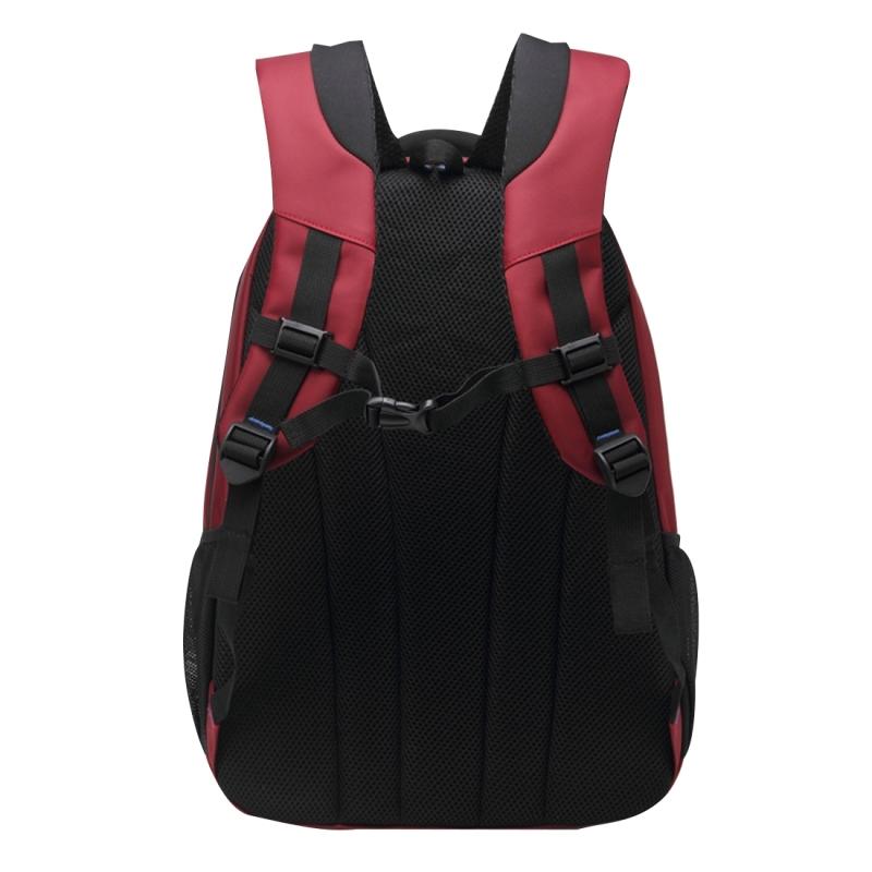 INDEPMAN DL-B015A Fashion stijl 15 inch Laptop Notebook Computer tas rugzak schouders nylontas met schouderband verstelbaar S-vormige voor mannen en vrouwen  Afmeting: 33 x 48 x 14 cm(rood)