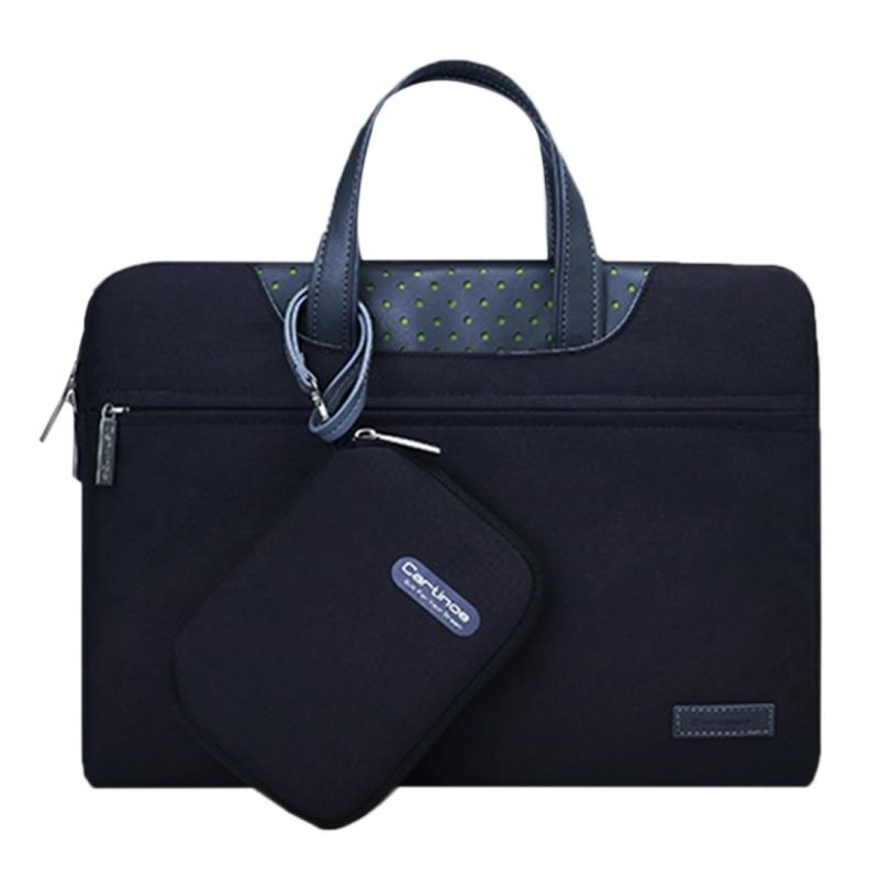 Cartinoe Business-serie 15.4 inch draagbare Laptoptas met onafhankelijk tasje voor voedingsadapter  geschikt voor MacBook  Lenovo en andere laptops  Interne afmetingen: 35 x 24 x 3 cm (zwart)