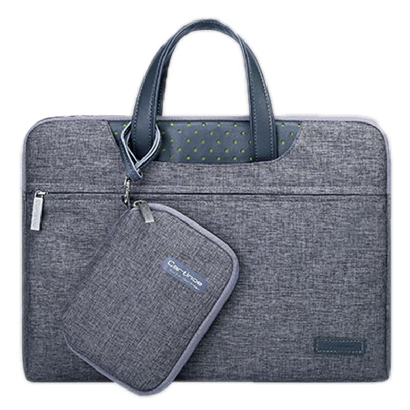 Cartinoe Business-serie 15.4 inch draagbare Laptoptas met onafhankelijk tasje voor voedingsadapter  geschikt voor MacBook  Lenovo en andere laptops  Interne afmetingen: 35 x 24 x 3 cm (grijs)