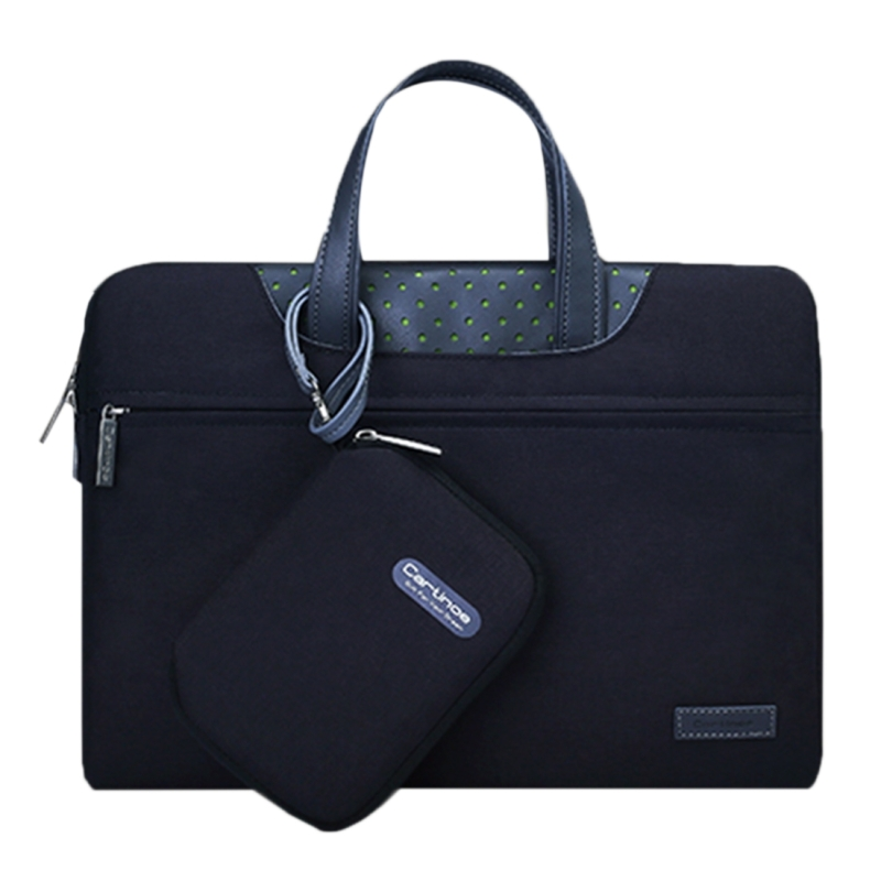 Cartinoe Business-serie 15.6 inch draagbare Laptoptas met onafhankelijk tasje voor voedingsadapter  geschikt voor MacBook  Lenovo en andere laptops  Interne afmetingen: 36.5 x 24 x 3 cm (zwart)