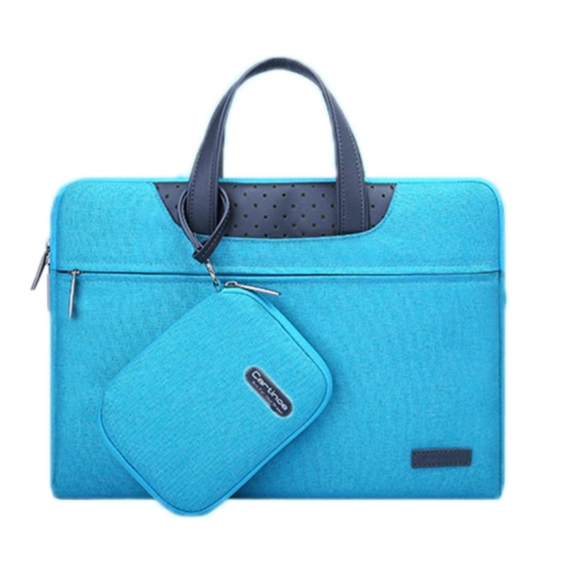 Cartinoe Business-serie 15.6 inch draagbare Laptoptas met onafhankelijk tasje voor voedingsadapter  geschikt voor MacBook  Lenovo en andere laptops  Interne afmetingen: 36.5 x 24 x 3 cm (blauw)