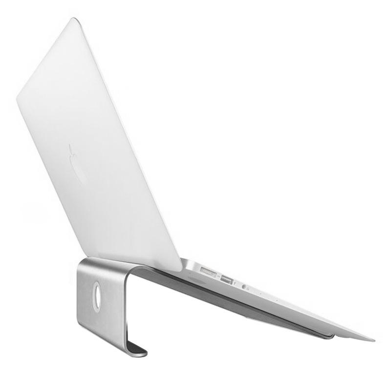 Aluminium Cooling Stand voor Laptop  geschikt voor Mac Air  Mac Pro  iPad  nl andere 11-17-inch Laptops (zilver)