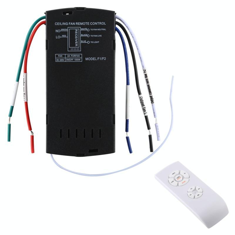 Universele plafondventilator lamp afstandsbediening Kit 85-265V timing draadloze bedieningsschakelaar aangepaste wind snelheid zender ontvanger