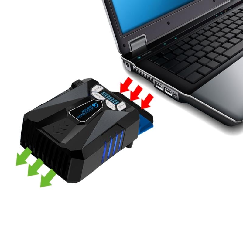 Ijs van Troll 5 COOLCOLD draagbare Laptop Cooling Fan lucht koeler verstelbare hoge prestaties Notebook Fan Cooler snelheidsregelaar  AC 220V(zwart)