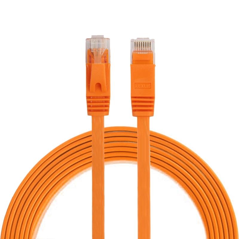 2m CAT6 ultra-dunne platte Ethernet LAN netwerkkabel  Patch leiden RJ45 (oranje)
