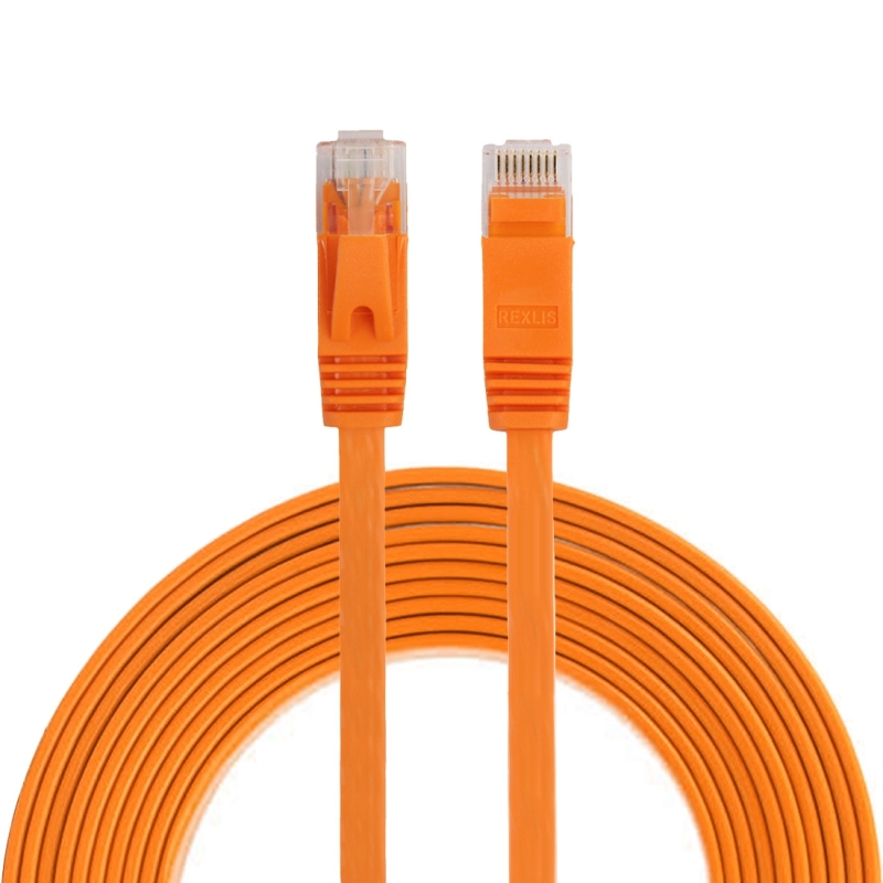 3m CAT6 ultra-dunne platte Ethernet LAN netwerkkabel  Patch leiden RJ45 (oranje)