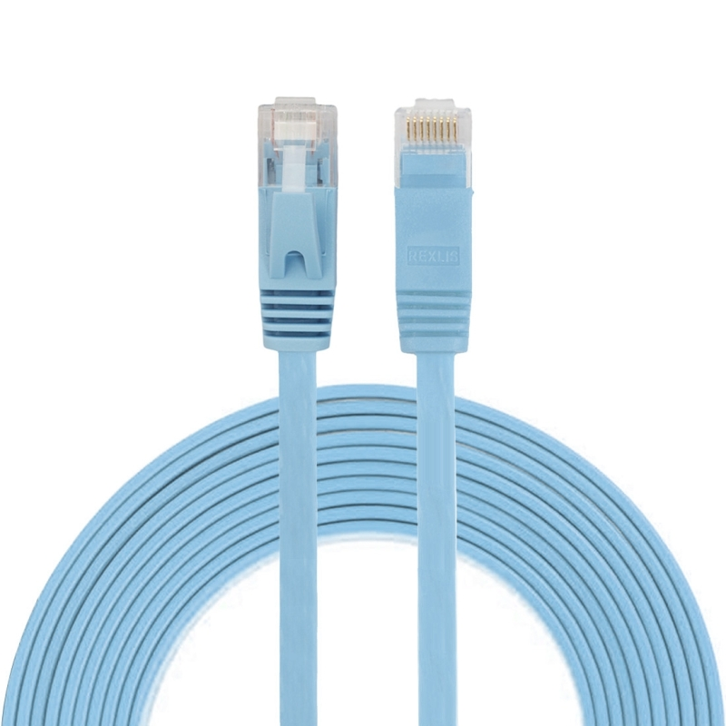 3m CAT6 ultra-dunne platte Ethernet LAN netwerkkabel  Patch leiden RJ45 (blauw)