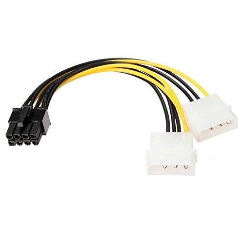18cm Y vorm 8 Pin PCI Express Dual Power Kabel van de 4 Pin Molex Graphics Card