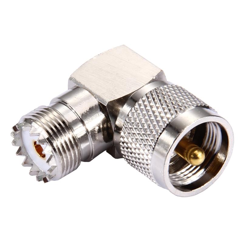 UHF vrouwtje naar UHF mannetje Connector met 90 graden haakse hoek