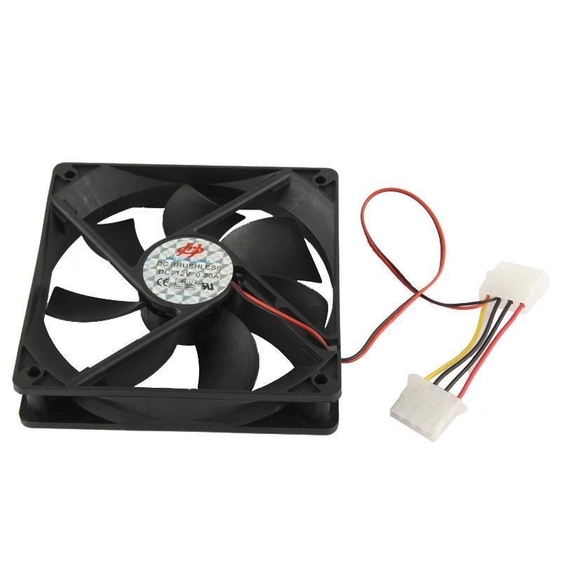 120 mm 4-pin Cooling Fan ontmoet dubbele aansluitingen (12025 4-pins)