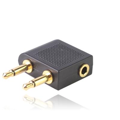 3.5 mm Vliegtuig hoofdtelefoon aansluiting adapter