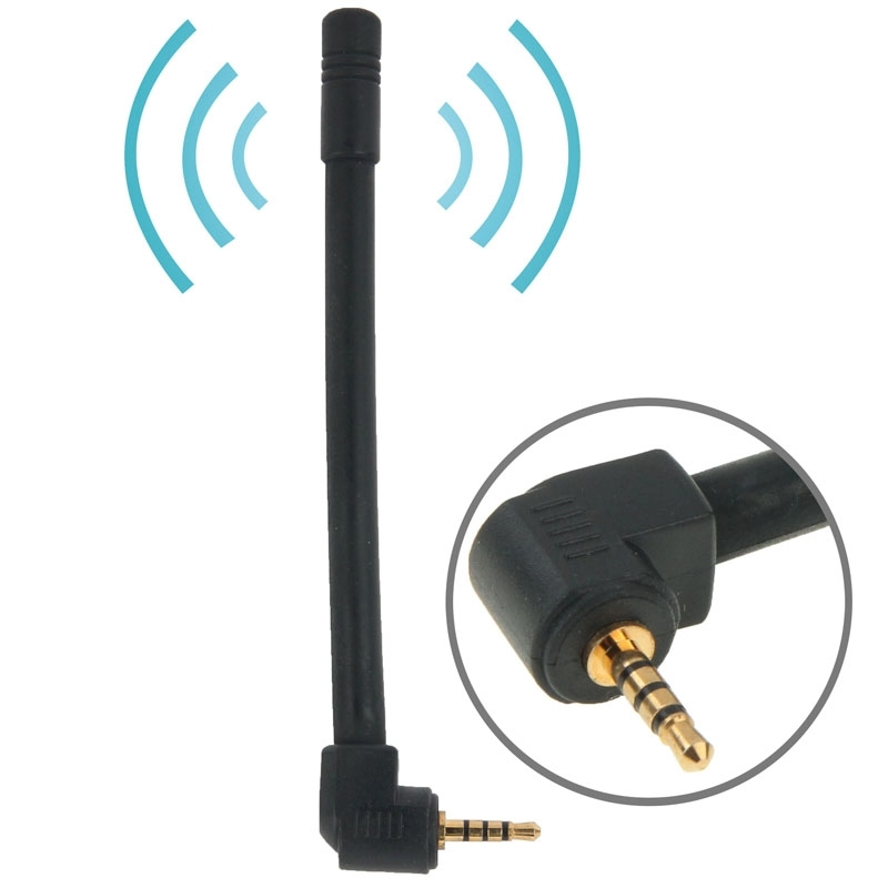 Hoge kwaliteit 6dBi 2.5mm Stereo verplaatsbare FM & TV Antenne  Lengte: 10.2 cm (zwart)