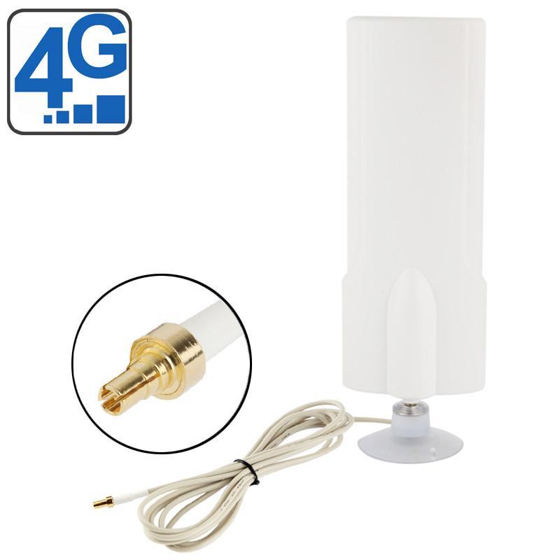 Hoge kwaliteit binnenshuis Antenne 25dBi CRC9 4G  Kabel lengte: 2 meter  Afmetingen: 20.7 x 7 x 3 cm