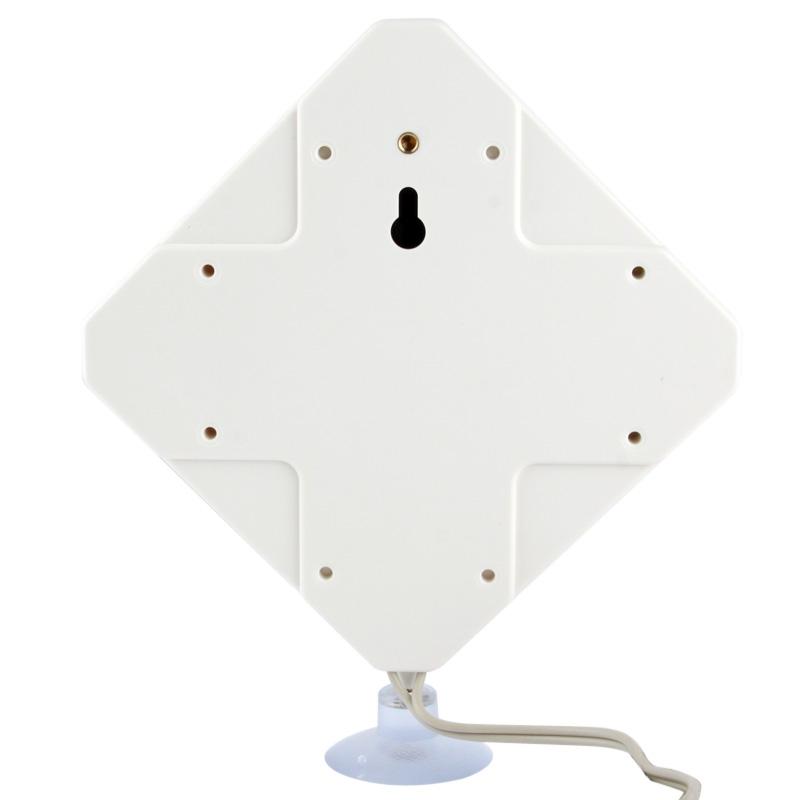Hoge kwaliteit binnenshuis Antenne 35dBi CRC9 4G  Kabel lengte: 2 meter  Afmetingen: 22 x 19 x 2.1 cm