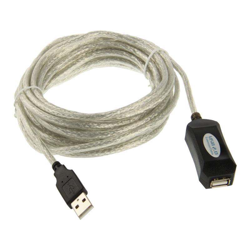 USB 2.0 Verleng kabel  Lengte: 5 Meter