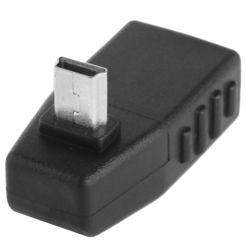 90 Graden Mini USB mannetje naar USB 2.0 A vrouwtje Adapter