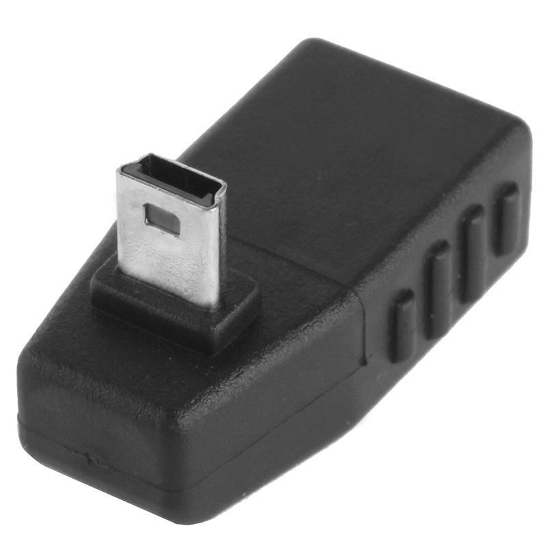 Mini USB mannetje naar USB 2.0 A vrouwtje Adapter met 90 graden hoek