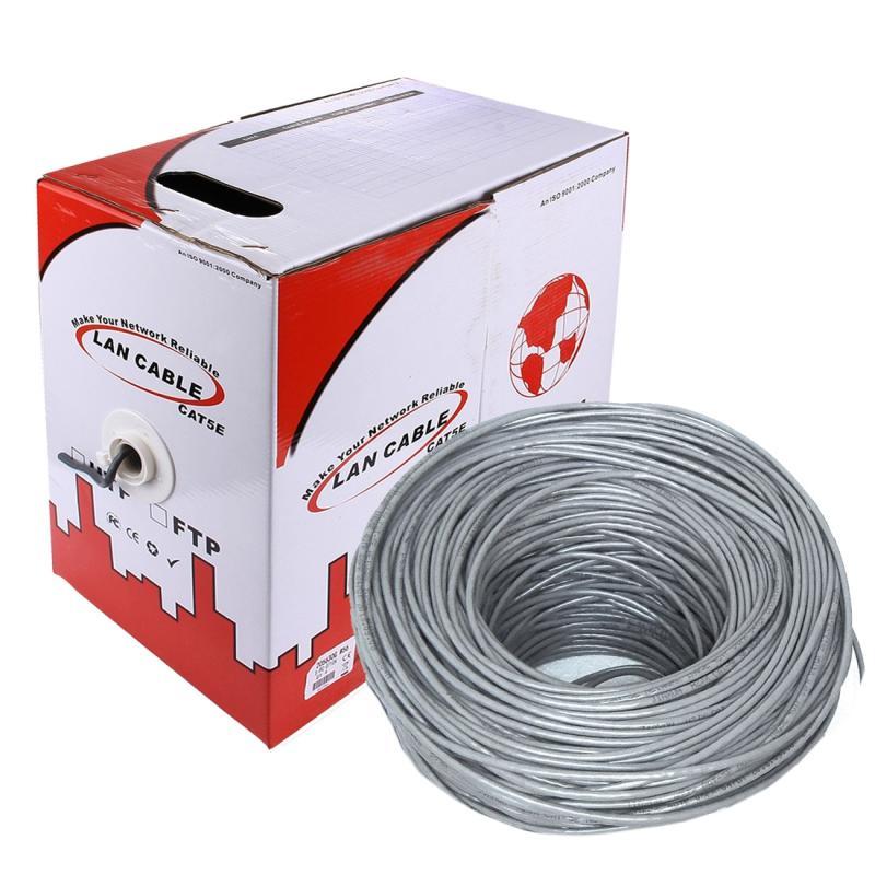 LAN Kabel (CAT5E Data kabel)  koper-clad aluminium (CCA)  koper bekleed staal (CCS)  Lengte: 305M  Diameter: 0.38 mm - 0.4 mm