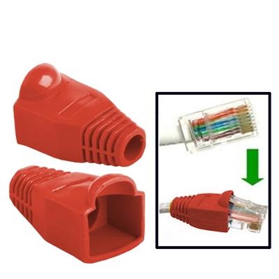 500 pc's netwerk Kabel laarzen Cap Cover voor RJ45  rood