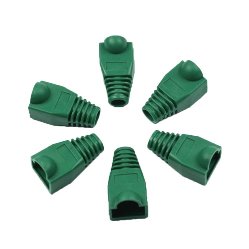 100 stuks netwerk Kabel laarzen Cap Cover voor RJ45  groen
