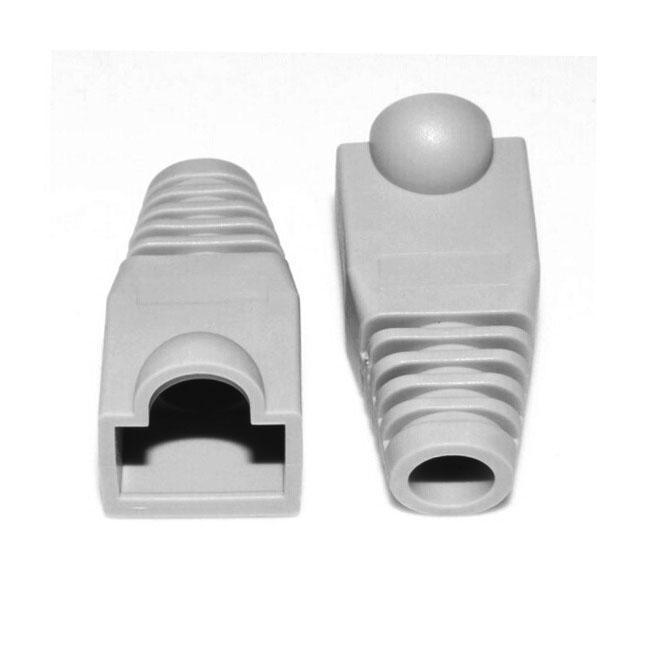 Netwerk kabel laarzen Cap Cover voor RJ45  grijs (100 stuks in een verpakking  de prijs is voor 100 pcs)(Grey)
