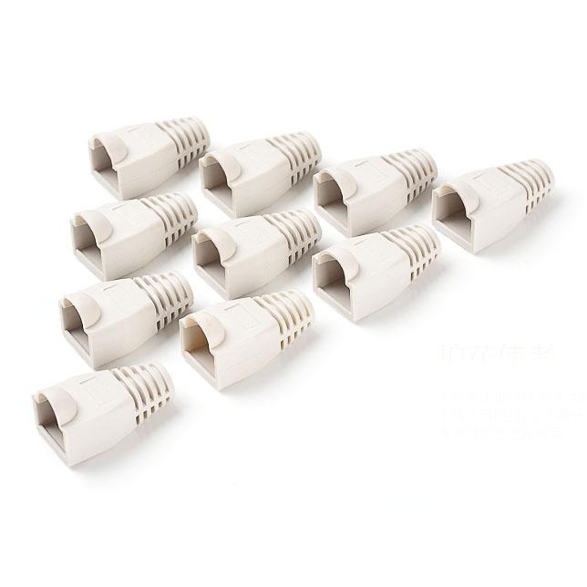 100 stuks netwerk Kabel laarzen Cap Cover voor RJ45  (wit)