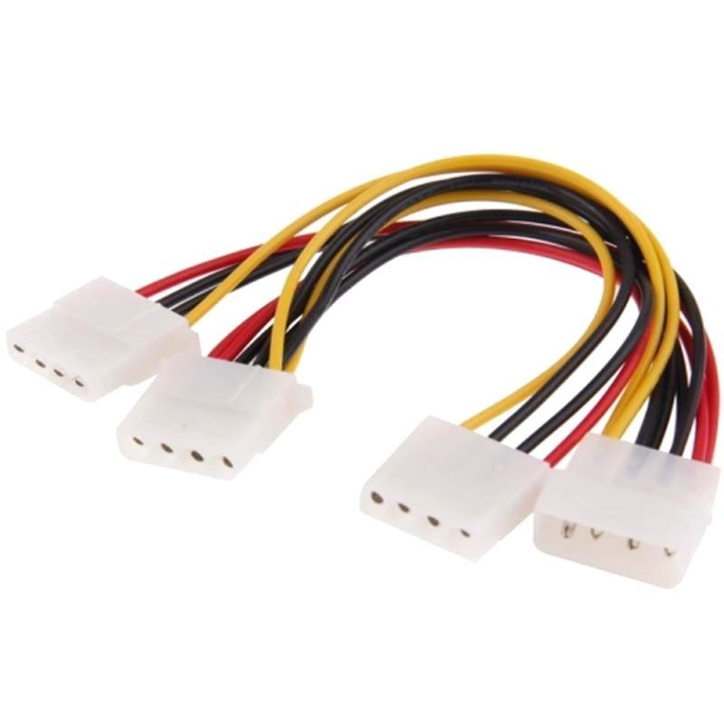 4 Pin IDE 1 mannetje naar 3x vrouwtje Splitter Power kabel voor 3.5 HDD DVD  Lengte: 20cm