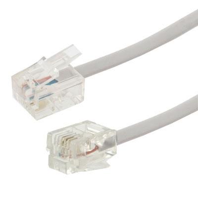 2 core RJ11 RJ11 telefoon kabel  Lengte: 3m