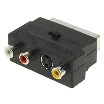 RGB Scart mannetje naar S-Video en 3 RCA Audio Adapter