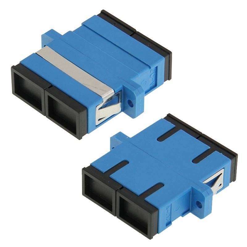 SC-SC Multimode-dubbelzijdig glasvezel flens / Connector / Adapter / Lotus Root Device(blauw)